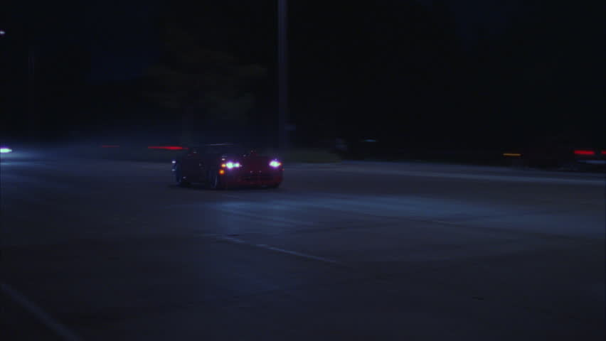 Night red Viper left right dark rural road | Shutterstock HD Video #21173566