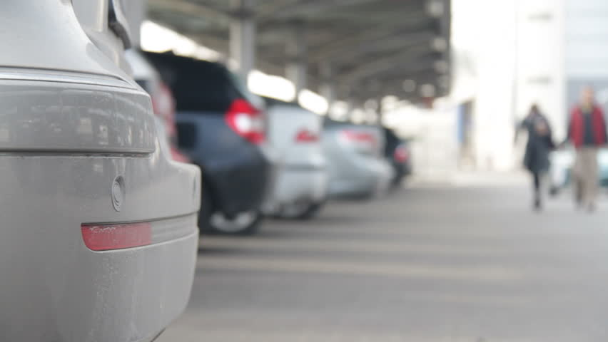 Car Pulls In At Parking Lot Stock Footage Video 2118050 Shutterstock