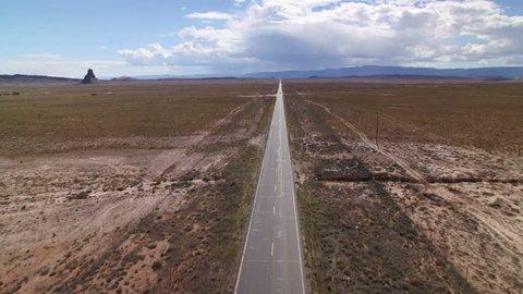 American Southwest Road Aerial 07 Highway in Desert