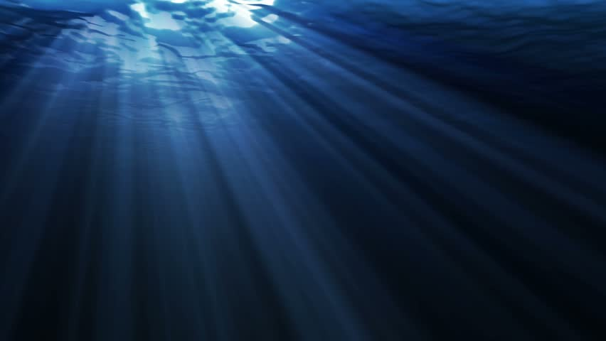 Light penetration of the oceans surface