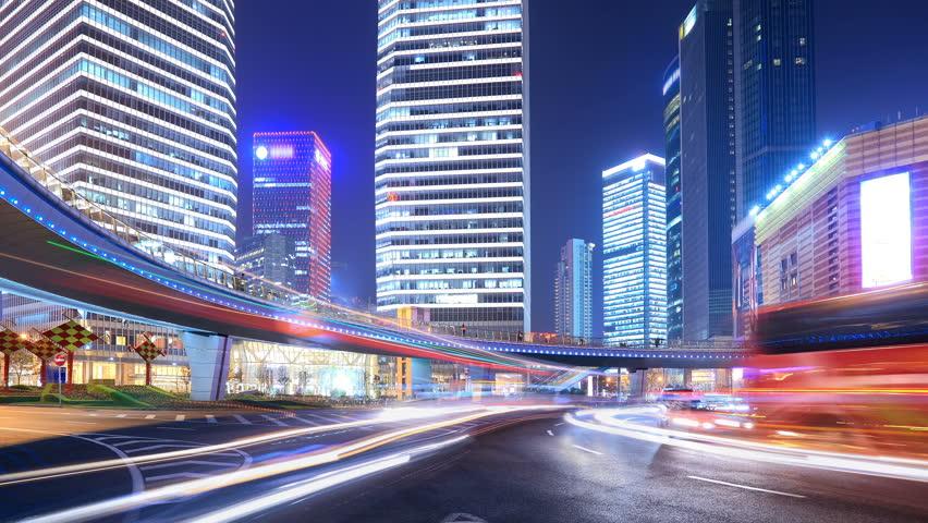 HD: Urban Speed, Shanghai China,Time-lapse. | Shutterstock HD Video #2124776
