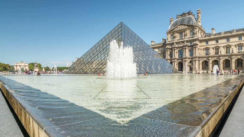 PARIS, FRANCE - CIRCA 2016: Louvre museum, a central landmark of the city and the world's largest museum. | Shutterstock HD Video #21295846