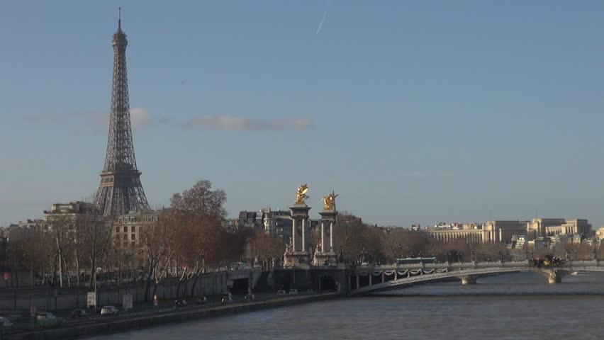 Timelapse of Eiffel Tower and Alexander Bridge | Shutterstock HD Video #2134586