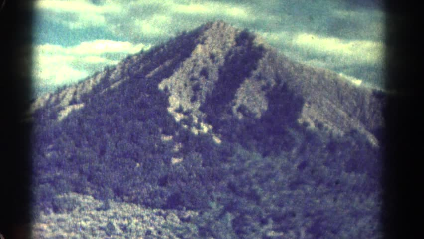 COLORADO 1967: mountain hilly greenery people walk watch view