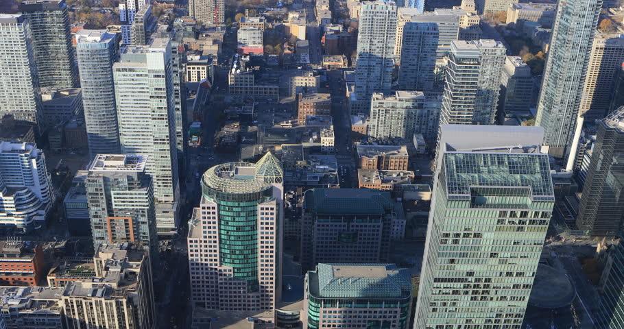 4K UltraHD Aerial view over Toronto buildings | Shutterstock HD Video #21398746