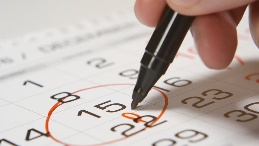 Signing a pay day on a calendar by red pen | Shutterstock HD Video #21448846