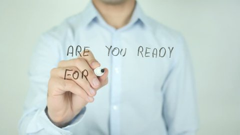 Are You Ready for Tomorrow ?, Writing On Transparent Screen