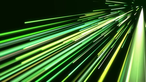 Green light streaks. Abstract motion background. Loop ready animation. This clip is available in multiple other color options - check my portfolio.