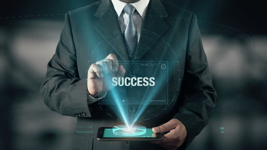 Businessman with Success concept choose Hard Work from Recession Problems Business Difficulties Low Budget using digital tablet | Shutterstock HD Video #21477046