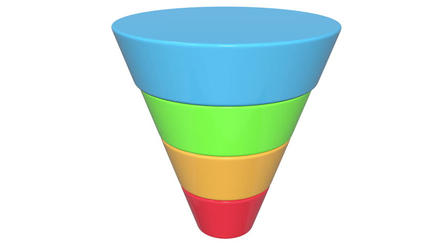 3d Marketing Funnel Sales    Diagram    Stock Footage Video  100