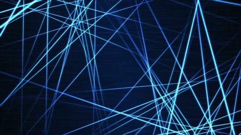 Moving through Light/Laser Beams Animation Animation - Loop Blue