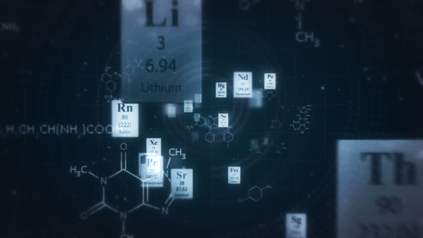 Scientific backgroundrough the elements of periodic table and scientific backgroundrough the elements of periodic table and chemical formulas seamless looping animation stock footage video 2170526 shutterstock urtaz Choice Image