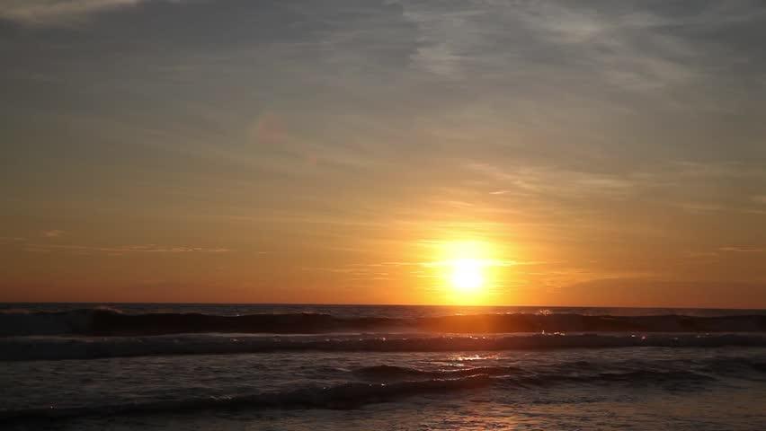 Beautiful sunset at the beach, Hikkaduwa, Sri Lanka, Asia | Shutterstock HD Video #21706246