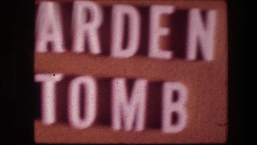 "GARDEN TOMB JERUSALEM ISRAEL 1976: marker identifying ""the garden tomb."" | Shutterstock HD Video #21718066"