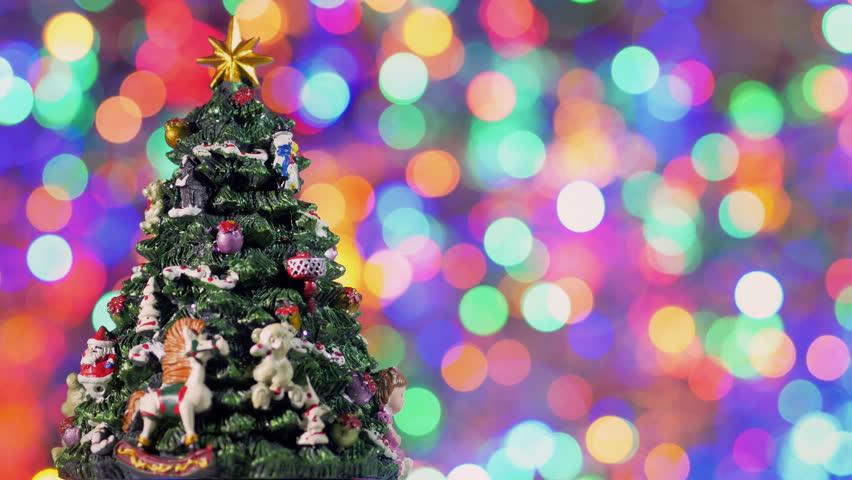 Nice Christmas Tree hd loopable background with nice christmas tree stock footage