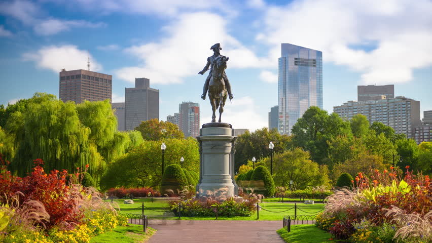 Boston, Massachusetts, USA Public Garden time lapse. | Shutterstock HD Video #21768919