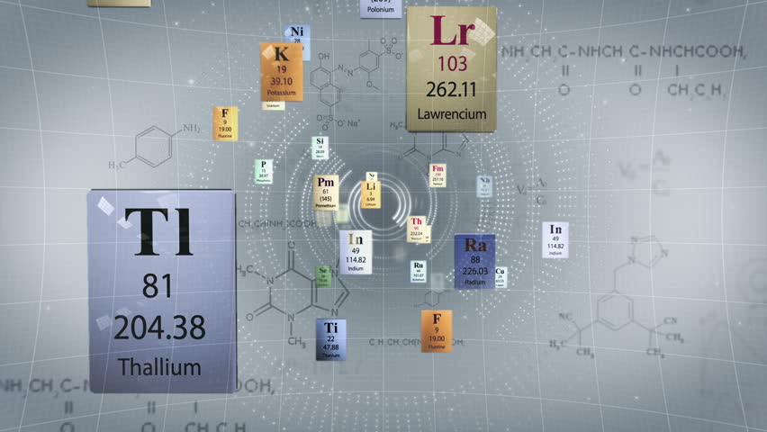 Scientific background elements of periodic table and chemical elements of periodic table and chemical formulas stock footage video 2177326 shutterstock urtaz Image collections