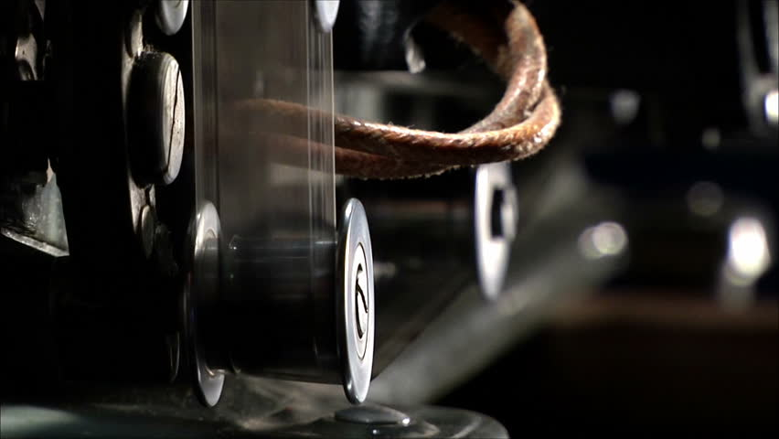 mechanism of film projector, with sound