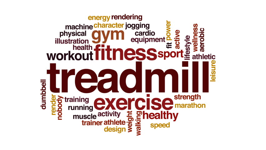 Treadmill animated word cloud.