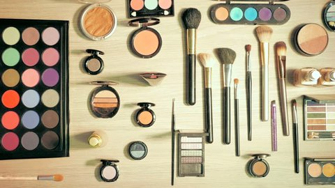 Makeup, Cosmetics, Beauty Products, stop motion