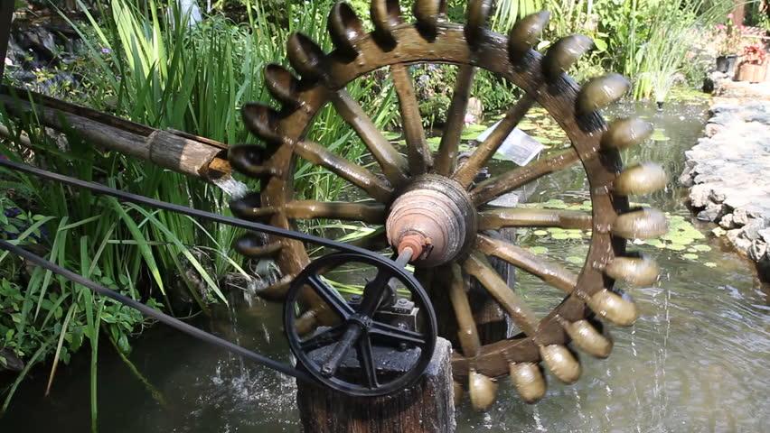 Stock Video Clip Of Ancient Hydro Turbine Generation In