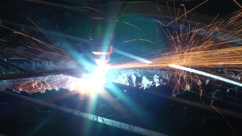 Plasma cutting a close-up | Shutterstock HD Video #22002076