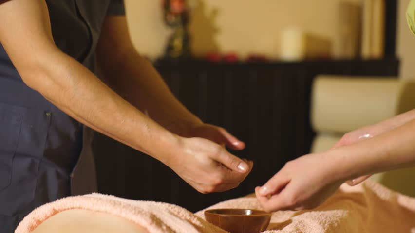 4 hand massage video