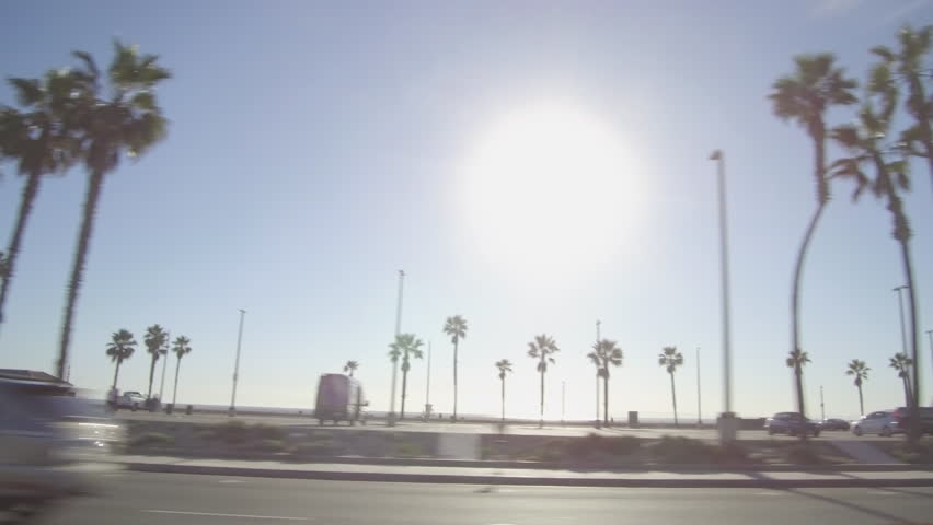 Driving along PCH in Huntington Beach, California on Pacific Coast Highway #22041037