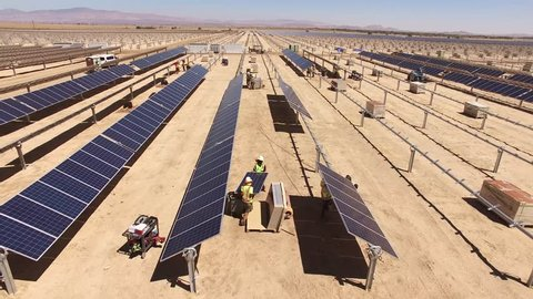 Solar panel field construction project.