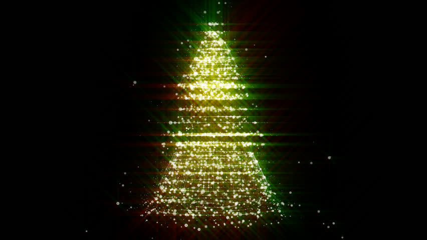 Green Lights Christmas Tree Stock Footage Video 2875432 | Shutterstock