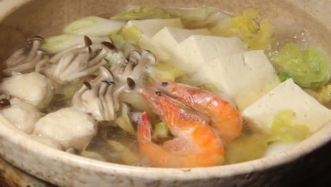 Japanese winter hot soup
