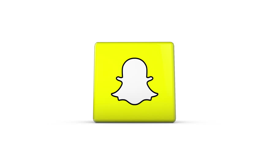OXFORD, UK - DECEMBER 11th 2016: A 3D rendering of a spinning cube with the snapchat logo. snapchat is a popular social media application for sharing images and videos