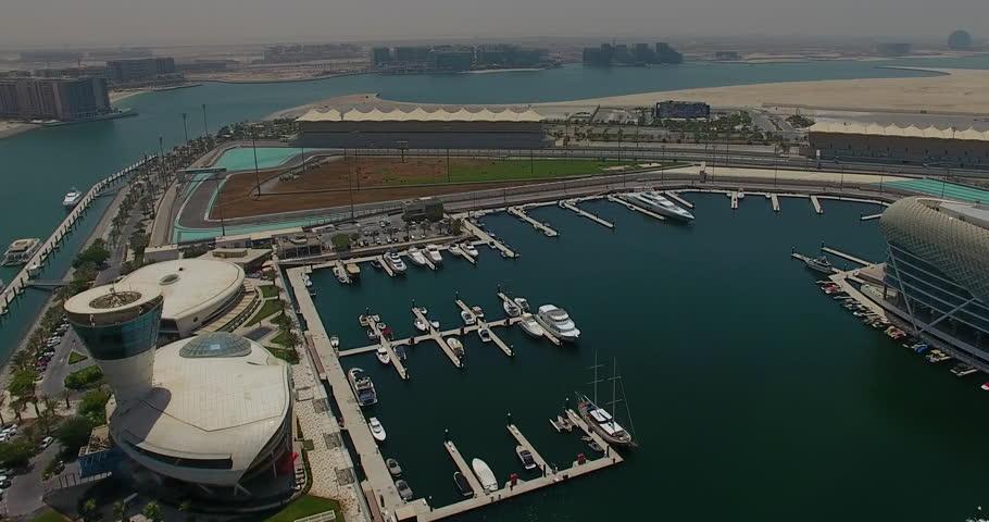 Abu Dhabi Yas Marina 360 Aerial view