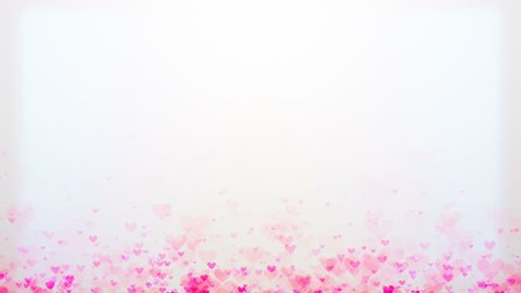 Looped abstract background with hearts. Abstract romantic background for Valentine's Day, holidays and weddings.