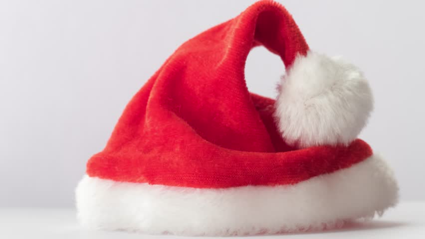 fba6b69e20 Father Christmas Hat On Rotating Stock Footage Video (100% Royalty ...