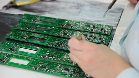 Hand soldering circuit boards for the spectrometer