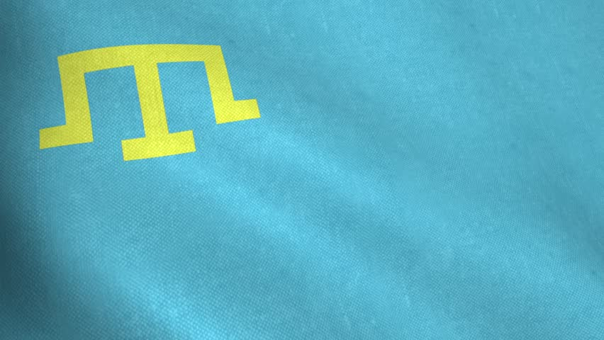 Waving flag of Crimean Tatars