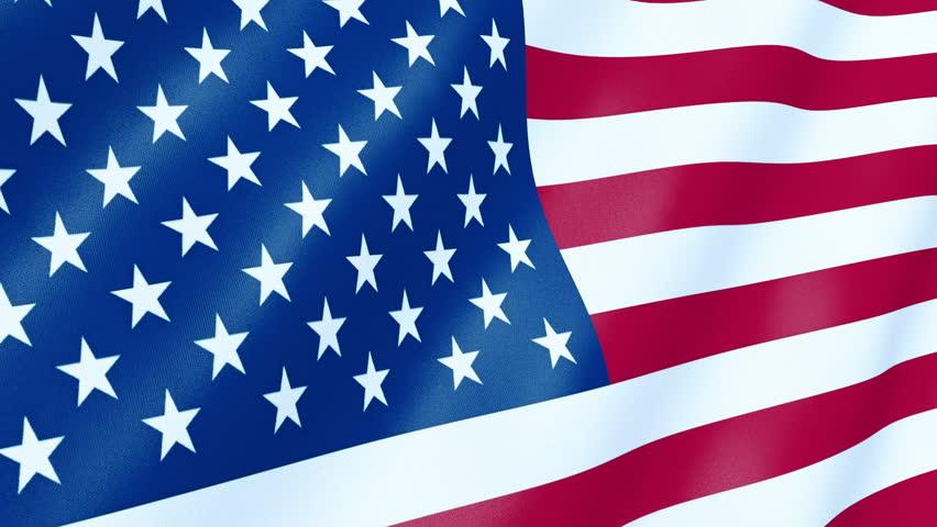 United State Of America Flag Waving 3d Render Seamless Loop Hd Stock Video