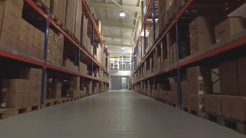 Flying through the big factory warehouse.  | Shutterstock HD Video #22359166
