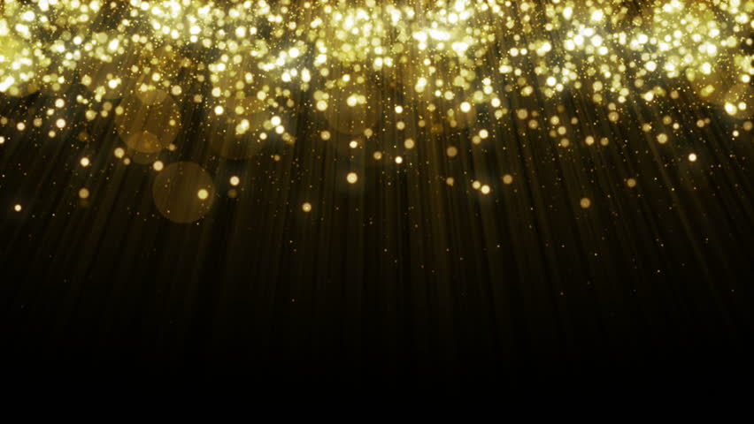 Particles Gold Glitter Award Dust Stock Footage Video 100 -6130
