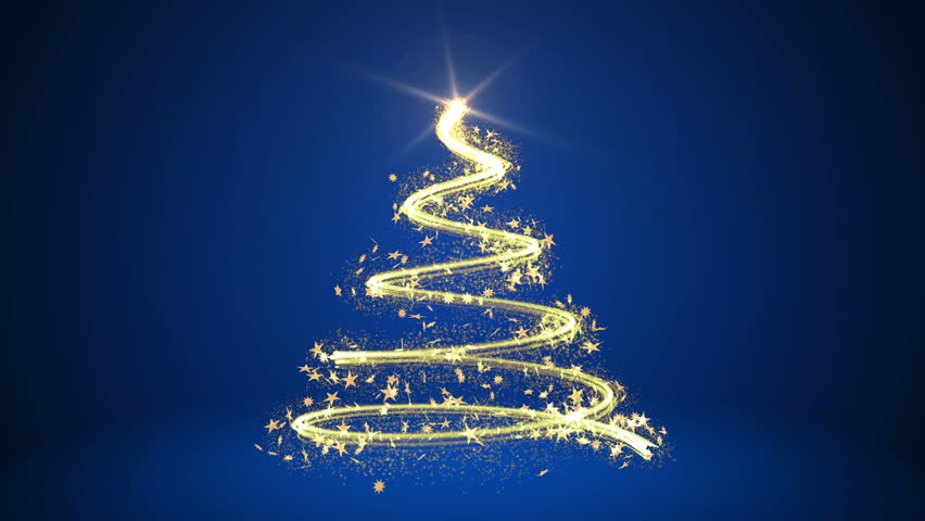 4k Animated Christmas Tree On Blue Stock Footage Video 100 Royalty Free 22422706 Shutterstock
