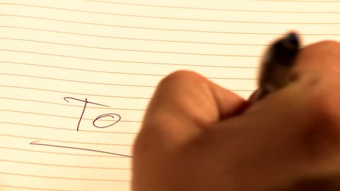 "Writing ""to do"""