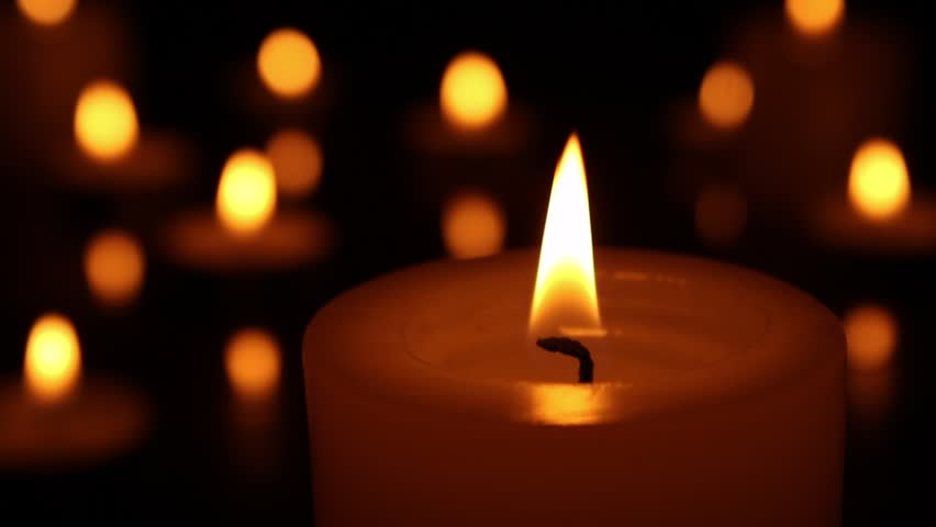 Candle Light Close Up. Candle Stock Footage Video (100% ...