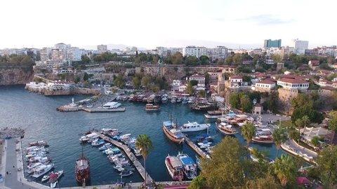 MARINA, OLD HARBOUR, CASTLE  - OLD CITY, MURATPASA, ANTALYA, TURKEY 2016