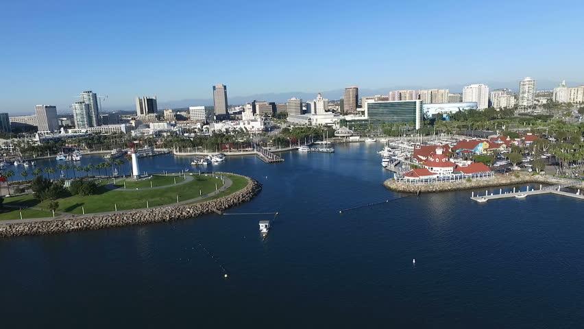 Long Beach California Harbor Aerial.mov  | Shutterstock HD Video #22551556
