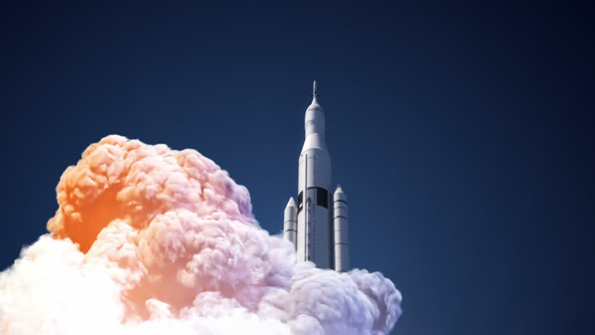 Space Launch System Takes Off. 3D Animation. | Shutterstock HD Video #22620484