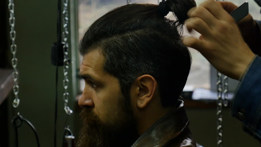 Mens Hairstyling And Haircutting In Stock Footage Video 100 Royalty Free 22621396 Shutterstock