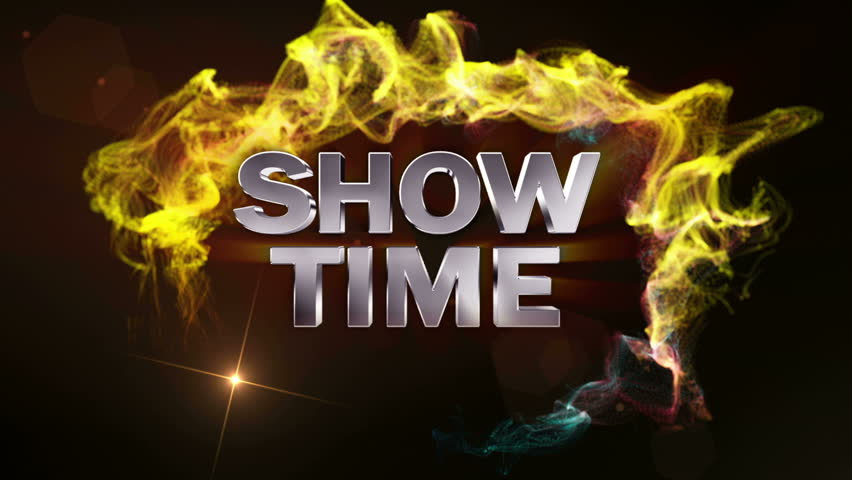 Curtain and Show Time text
