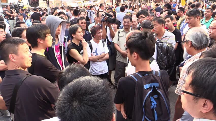A series of sit-in street protests, often called the Umbrella Revolution, occurred in Hong Kong from 26 September to 15 December 2014 #22707142