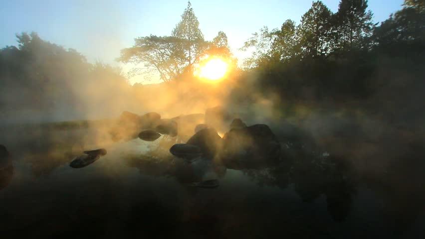 Hot spring at Lampang, Thailand.